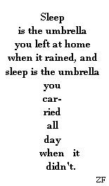 sleep is an umbrella (2008)